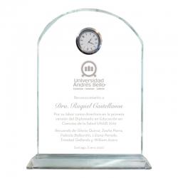 Galvano de Cristal modelo Reloj Altar Fino S (Pequeño), incluye grabado láser