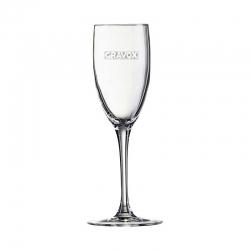 Estilizada Copa para Espumante y/o Champagne So Wine 16, Incluye grabado láser. 160 cc