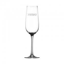 Elegante Copa para Espumantes y/o Champagne Stölzle 20, la cual incluye grabado láser. 200 cc