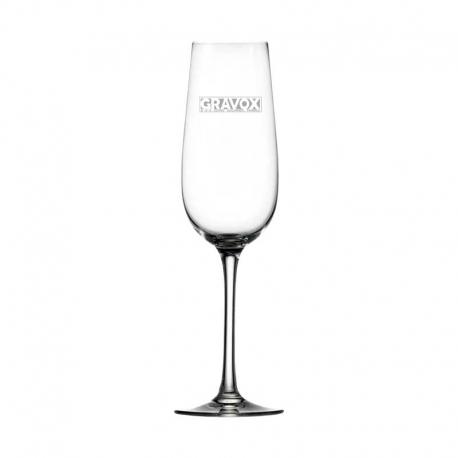 Elegante Copa de Champagne Stölzle 20, la cual incluye grabado láser
