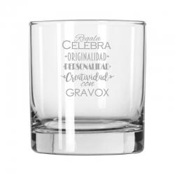 Vaso de Whisky bajo 32 Premier, Incluye grabado láser. 320 cc