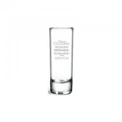 Vaso de Tequila, Incluye Grabado láser. 74 cc