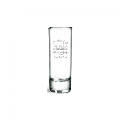 Vaso de Tequila, Incluye Grabado láser