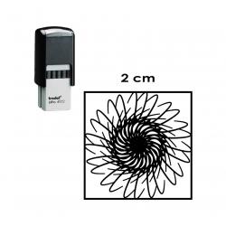 Timbre de Goma Automático Cuadrado 2x2 centímetros, Trodat 4922. para logos o textos.