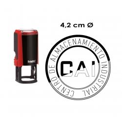 Timbre de goma automático circular de 4,2 centímetros de diámetro Trodat 4642, para logos y textos. el mejor en la empresa.