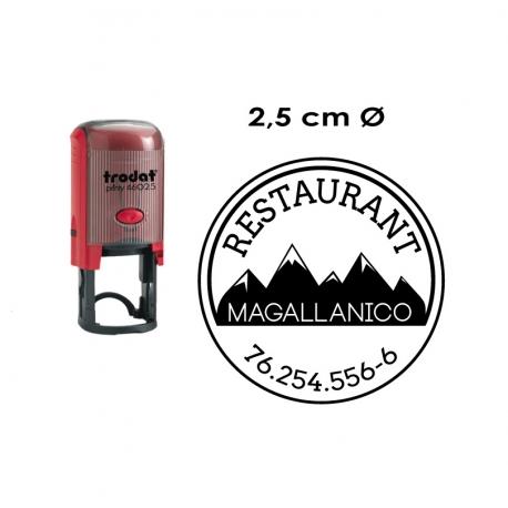 Timbre de goma automático redondo Trodat 46025