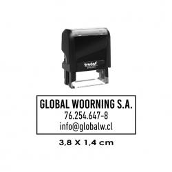 Timbre de Goma Automático Trodat Printy 4911, sello pequeño y personal de alta calidad.