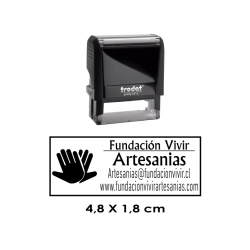 Timbre de Goma Automático Trodat Printy 4912, sello personalizable para personas, empresas e instituciones.