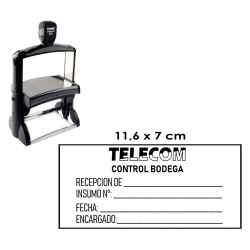 Timbre Sello de goma automático muy GRANDE y profesional de 11,6x7 centímetros Trodat 5212 (Extra GRANDE), Servicio express.
