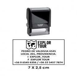 Timbre de goma automático Trodat 4915, personalizable. Imprime lo que quieras, con la mejor calidad.