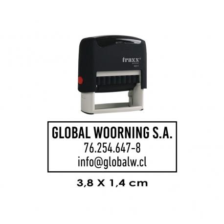 Timbre de goma automático Traxx 9011
