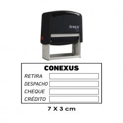Timbre de goma automático Traxx 9015,. Mide 7x3 cms, perfecto para empresas e instituciones, puede incluir texto y/o logos.