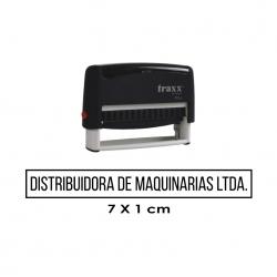 Timbre de goma automático Traxx 9016. Mide 7x1 cms. el sello preferido para cheques. Muy útil para empresas e instituciones.