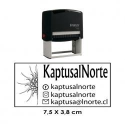 Timbre de goma automático Traxx 9026 Mide 7,5x3,8 cms. sello grande, ideal para empresas e instituciones.