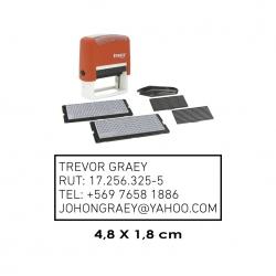 Timbre automático con plantillas Traxx 8052, con textos personalizables, incluye 2 plantillas