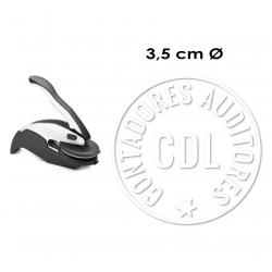 Timbre de Agua o Sello Seco de hasta 3,5 cms. para sobre mesa y bolsillo Incluye el texto/o logotipo