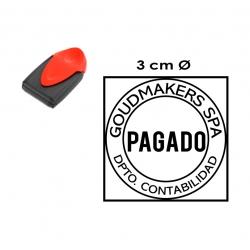 Timbre automático redondo o cuadrado de Bolsillo de 3 centímetros. Trodat 9430 - El mejor sello portátil y personal.