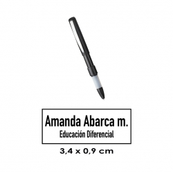 Lápiz Timbre Automatik Switch. 9x34 milímetros. Un sello doblemente útil y portatil, timbra y escribe.