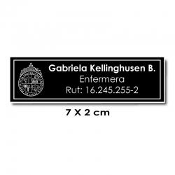 Piocha Identificación 7x2 centímetros - Negro / Blanco