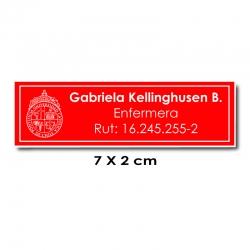 Piocha Identificación 7x2 centímetros - Rojo / Blanco
