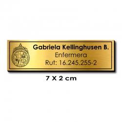 Piocha Identificación 7x2 centímetros - Dorado / Negro - elaboración EXPRÉS.
