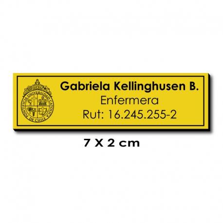 Piocha Identificación 7x2 centímetros - Amarillo / Negro - Servicio EXPRÉS.