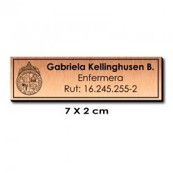 Piocha Identificación 7x2 cms - Cobre / Negro - Atención EXPRÉS.