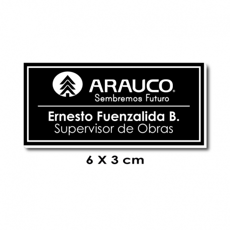 Piocha Identificación 6x3 centímetros - Negro / Blanco
