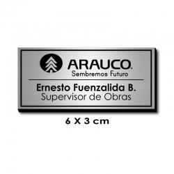 Piocha Identificación 6x3 centímetros - Plata Europeo / Negro