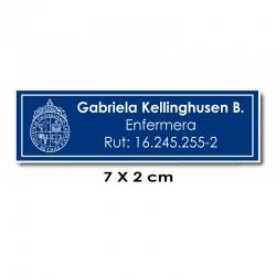 Piocha Identificación 7x2 centímetros - Azul / Blanco