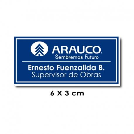 Piocha Identificación 6x3 centímetros - Azul / Blanco