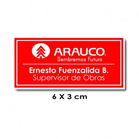 Piocha Identificación 6x3 centímetros - Rojo / Blanco