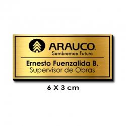 Piocha Identificación 6x3 centímetros - Dorado / Negro con servicio exprés