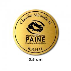 Piocha Pin de Identificación Circular 3,5 centímetros de diámetro. Graba nombre, logos o lo que quieras