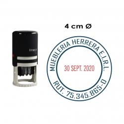 Timbre Fechador automático Traxx 7140, sello circular. Incluye personalización de texto.