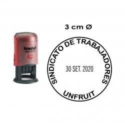 Timbre Fechador automático de 3 cms. Trodat 46130, ideal para recepción de empresas e instituciones.