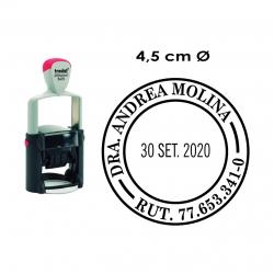 Timbre Fechador 4,5 cms Circular Profesional modelo Trodat 5415 personalizable,