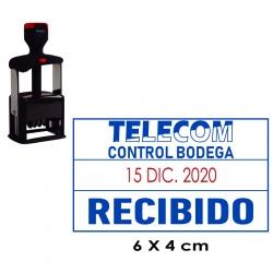 Timbre Fechador Profesional Traxx JF 660 con entintado automático, un sello fechero preferido por empresas e instituciones.