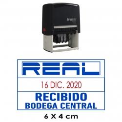 Timbre Fechador automático Traxx 7027, un sello que además incluye leyenda personalizada.