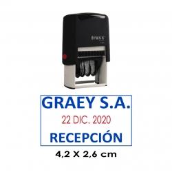 Timbre Fechador Automático Traxx 7050, sello fechero personalizable económico.