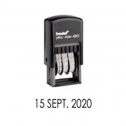 Timbre Fechador Automático Trodat Printy 4810, sello con solo fecha listo para usar.
