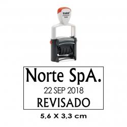 Fechador Automatico professional Trodat 5460 de 5,6x3,3 cms, el mejor timbre para tu empresa.