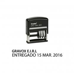 Timbre Fechador personalizable automático Trodat 4813, una línea con texto y fecha