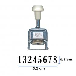 Foliador (numerador) Automático Isofit de 8 dígitos color Negro