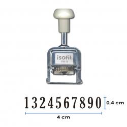 Foliador (numerador) Automático Isofit de 10 dígitos color Negro