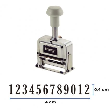 Foliador (numerador) Automático Traxx de 12 dígitos (AN 6612)