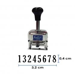 Foliador (numerador) Automático 8 dígitos - metálico Great Wall
