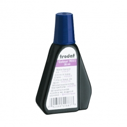 Tinta para timbre automático Trodat 7011 color Violeta, con dosificador de uso limpio y seguro.