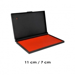 Tampón color Rojo Mediano para timbres de goma - Marca Traxx. Sistema recargable de alta duración.