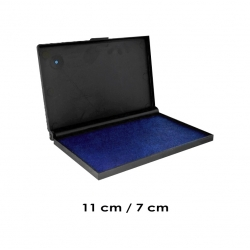 Tampón Azul Mediano para timbres de goma - Marca Traxx